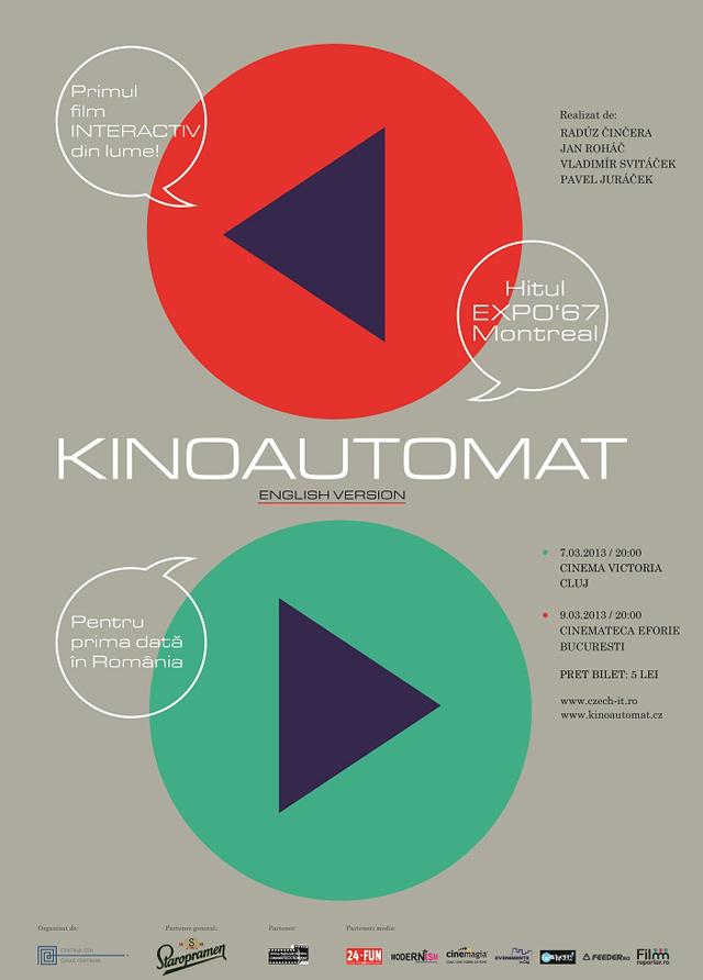 Primul film interactiv din lume, în proiecție la București și Cluj, adus de Centrul Ceh București
