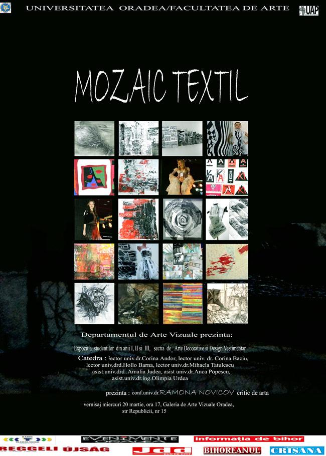 """""""Mozaic textil"""" – expoziția studenților de la Facultatea de Artă din Oradea"""