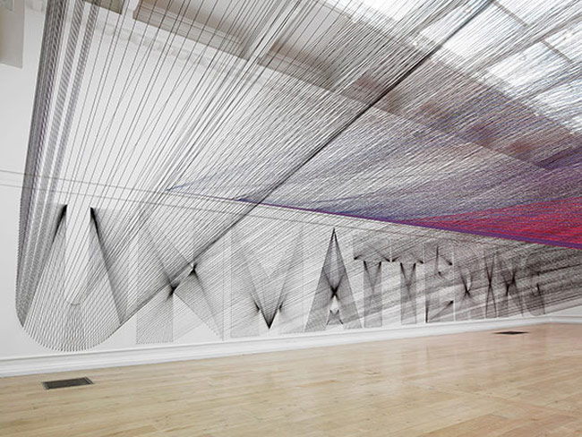 Stunning 48 kilometre thread installation arrives at South London Gallery
