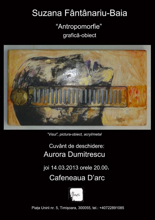 Suzana Fântânariu-Baia expune la D'Arc, Timișoara