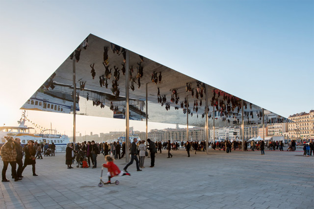The Port Vieux Pavilion: A Mirrored Canopy on a Grand Space of the Harbor