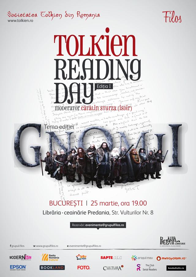 """Prima ediție românească a """"Tolkien Reading Day"""" la București @ Societatea Tolkien din România și Grupul Filos"""