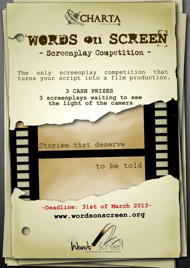 Words on Screen – o competiție internațională destinată tinerilor pasionați de scenaristică!