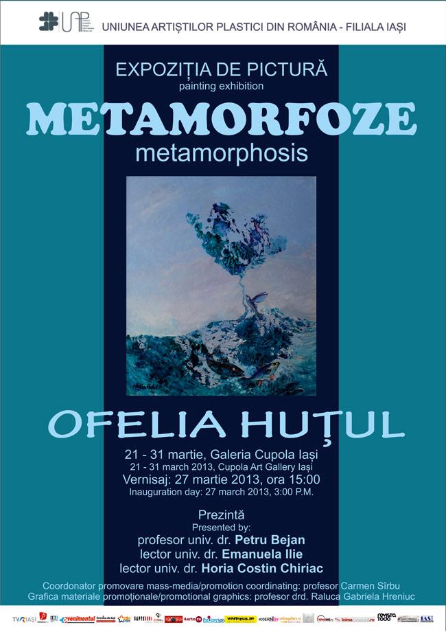 """Ofelia Huțul """"Metamorfoze"""" @ Galeria Cupola Iași"""