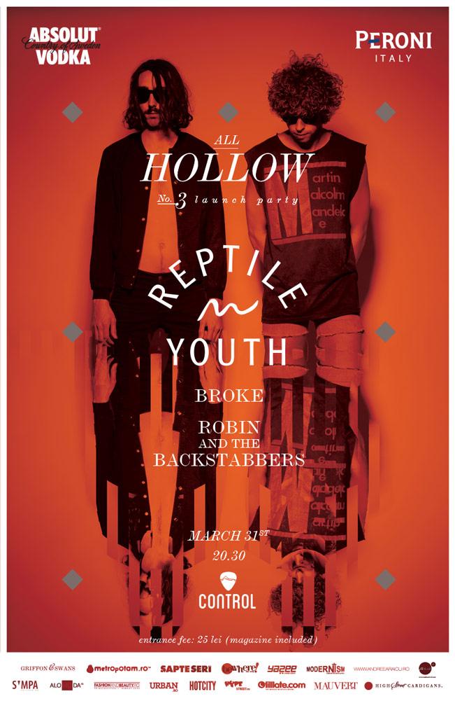 Reptile Youth cântă la lansarea noului număr All Hollow