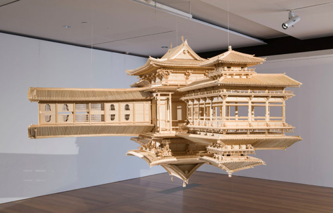 Reflected Temple Model by Takahiro Iwasaki