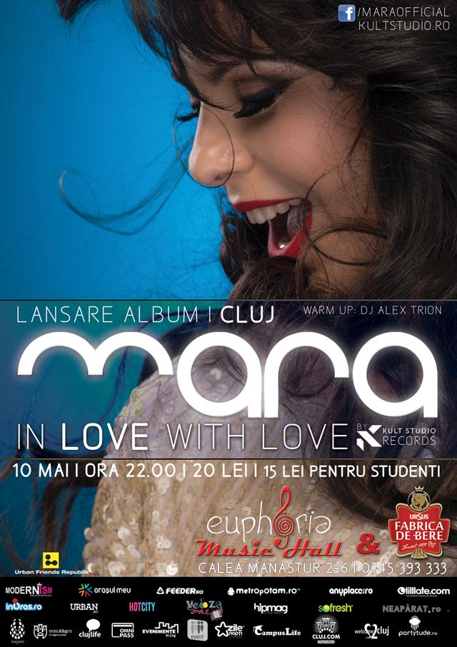 """Turneu de lansare """"In love with love"""" Mara, prezentat de Kult Studio la Cluj"""