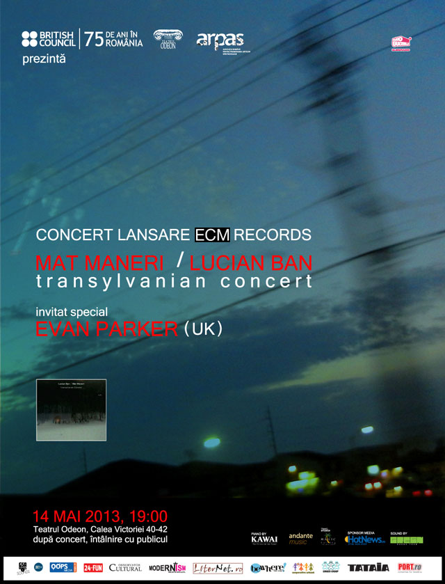 Mat Maneri și Lucian Ban: concert-eveniment și lansare album Transylvanian Concert @Teatrul Odeon București