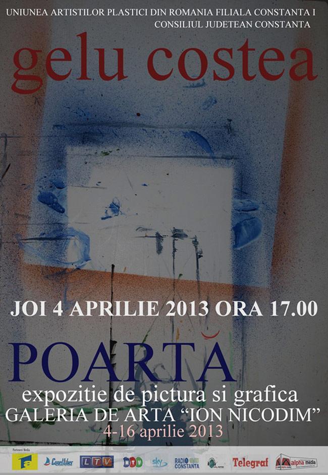 """Gelu Costea, """"Poartă"""" @ Galeria """"I.Nicodim"""" – Pavilionul Mamaia"""