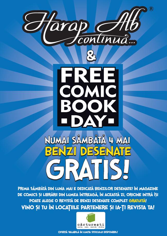 Harap Alb continuă și Free Comic Book Day