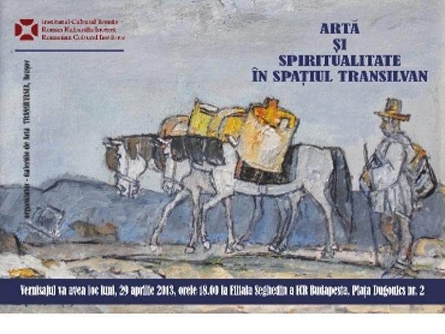 """""""Artă şi spiritualitate în spaţiul transilvan"""" @ ICR Budapesta"""