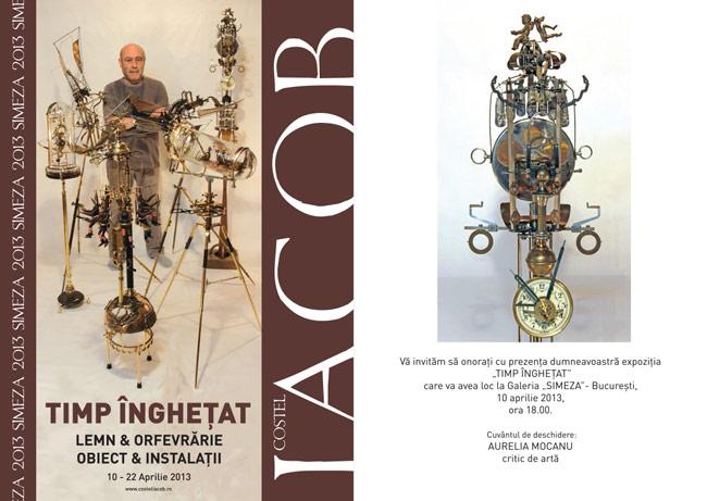 """Sculptorul Costel Iacob, """"Timpul îngheţatˮ @ Galeria Simeza, București"""