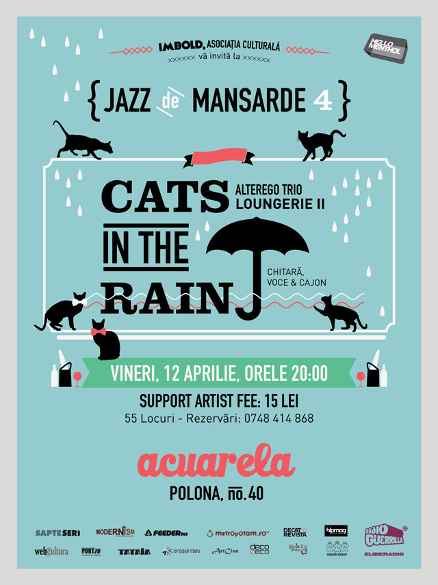 Trio jazzy lounge Cats in the Rain @ Acuarela Bucuresti