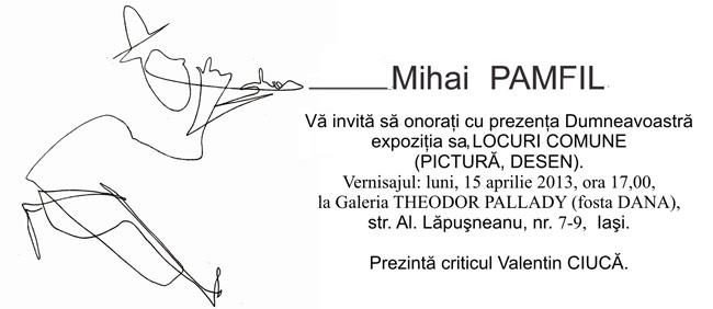 """Mihai Pamfil, """"Locuri comune"""" @ Galeria de artă Theodor Pallady, Iași"""