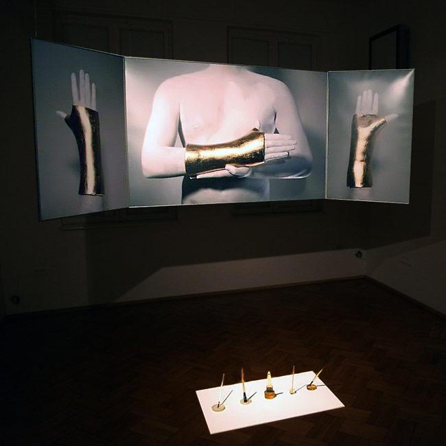 "Mihai Zgondoiu, ""The Artist's Golden Hand"" @ Aiurart, București, imagini"