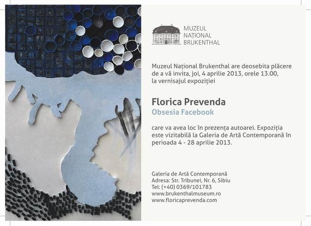 Florica Prevenda – Obsesia Facebook  @ Brukenthal