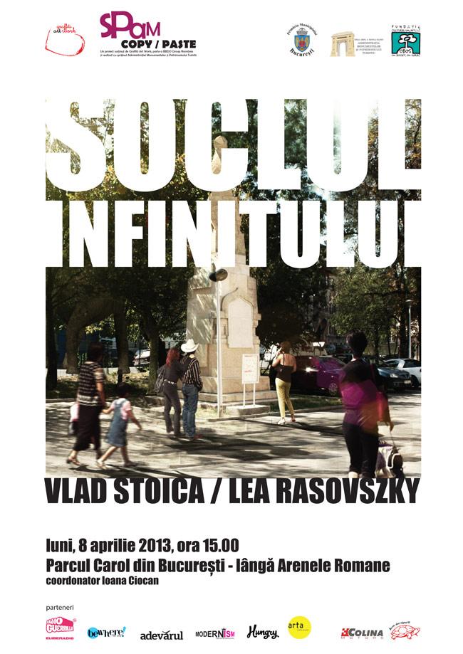 Soclul infinitului în Parcul Carol, București – Vlad Stoica și Lea Rasovszky în cadrul SPAM Copy/Paste