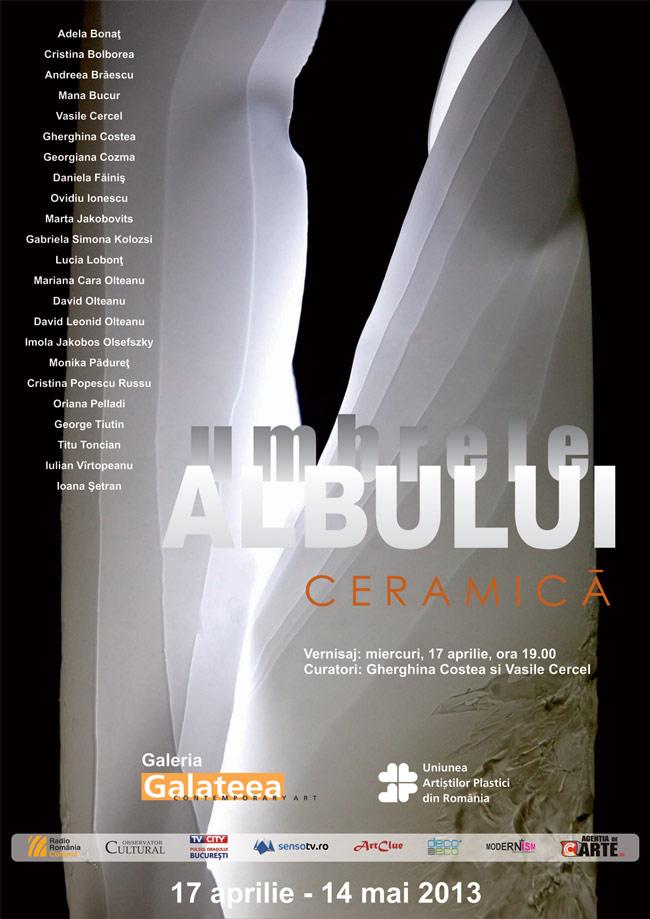 """""""Umbrele albului"""" @ Galeria Galateea, București"""