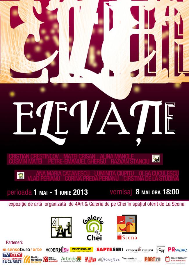 """Expoziție de arta plastică (pictură, grafică, sculptură) """"Elevație"""" @ La Scena, București"""