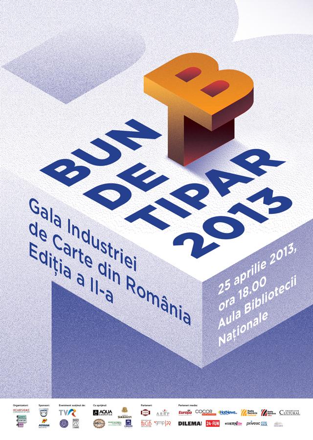 """Gala """"Bun de Tipar"""", decernarea premiilor de excelență ale industriei de carte din România"""