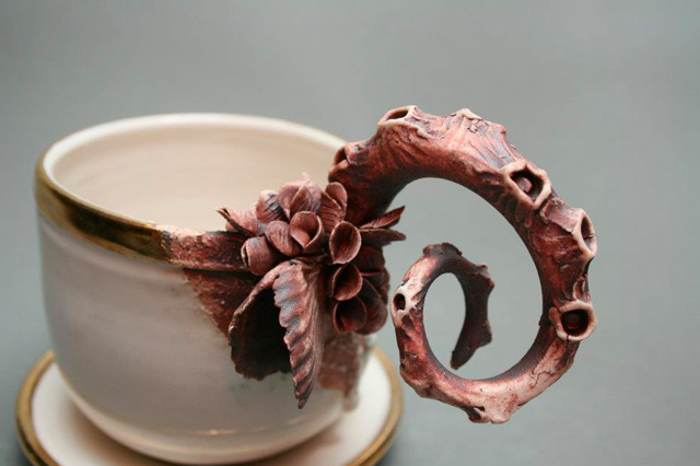 Ceramic Objects covered with Marine Life by Mary O'Malley