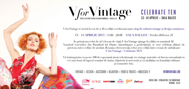 Targ de cultura vintage si design romanesc, V for Vintage @ Sala Dalles Bucuresti