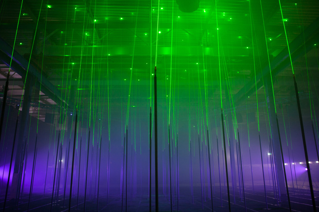 Interactive Musical Laser Forest