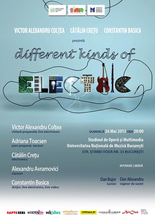 """Spectacol inedit: Muzică interactivă multimedia """"Different Kinds of Electric"""""""
