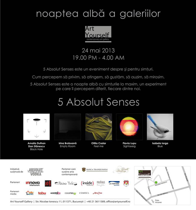 """5 Absolut Senses"" @ ART YOURSELF GALLERY, București"
