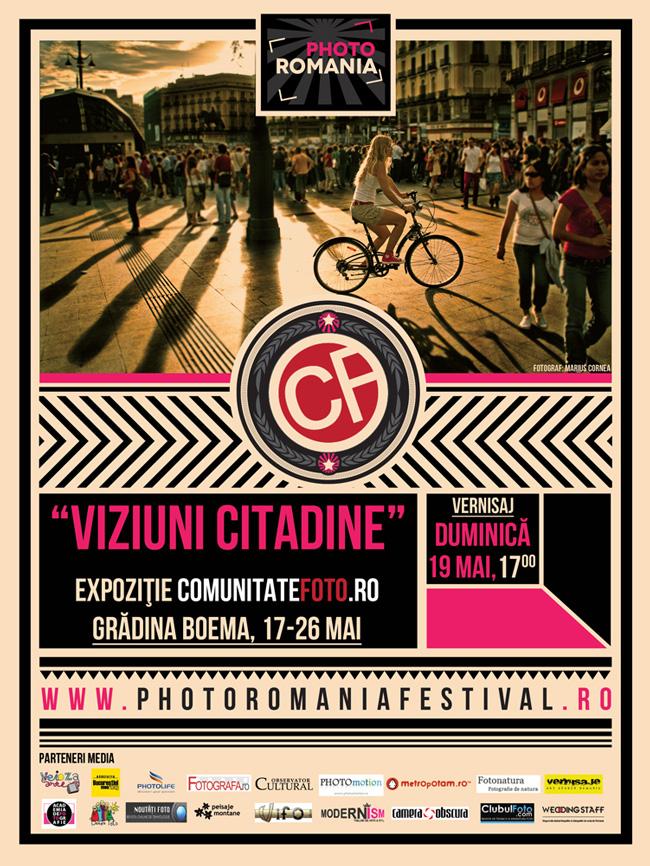 Viziuni Citadine: Expoziţie de grup ComunitateFoto.ro @ Grădina Boema din Cluj