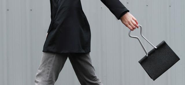 Clip Bag, A Handbag That Looks Like an Office Binder Clip