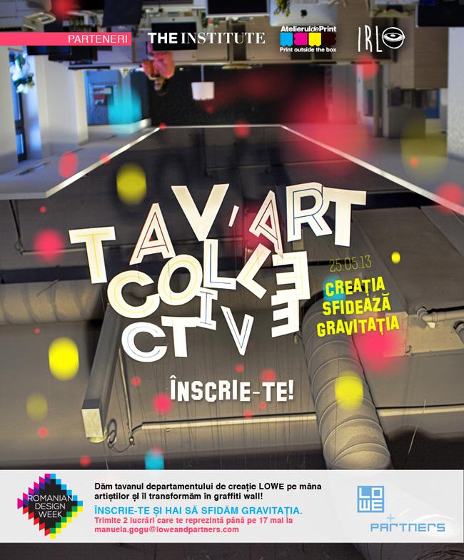 Romanian Design Week: 6 câștigători vor picta pe tavan în cadrul Tav'Art Collective