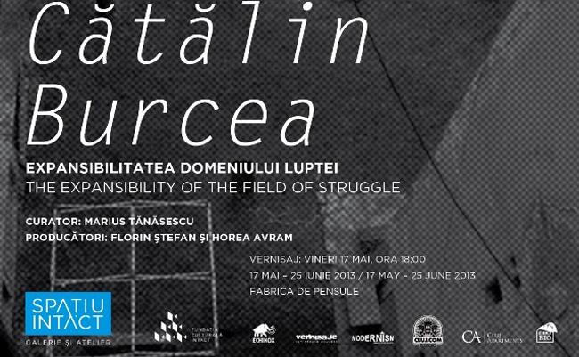 """Cătălin Burcea """"Expansibilitatea domeniului luptei"""" @ Spațiul Intact, Fabrica de Pensule din Cluj"""
