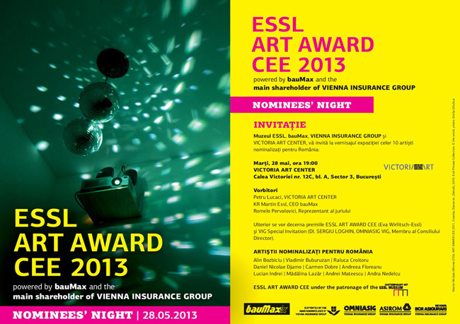 ESSL ART AWARD CEE 2013 / NOMINEES' NIGHT ROMANIA @ Victoria Art Center, București