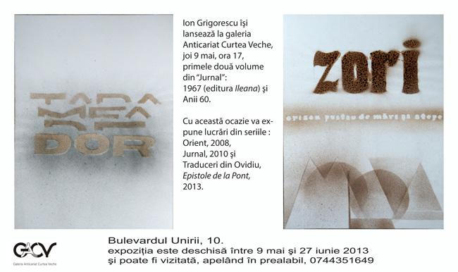 Ion Grigorescu @ Galeria Anticariat Curtea Veche, București