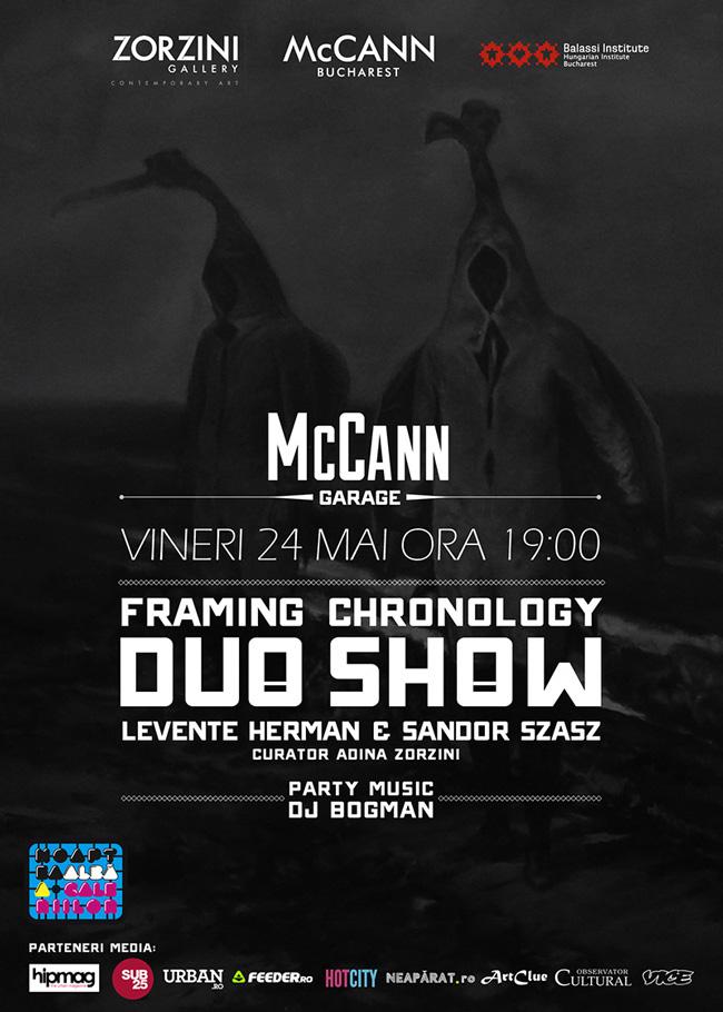 """Galeria Zorzini și McCann București găzduiesc duo show-ul """"Framing Chronology"""" al artiștilor Herman Levente și Sandor Szasz"""