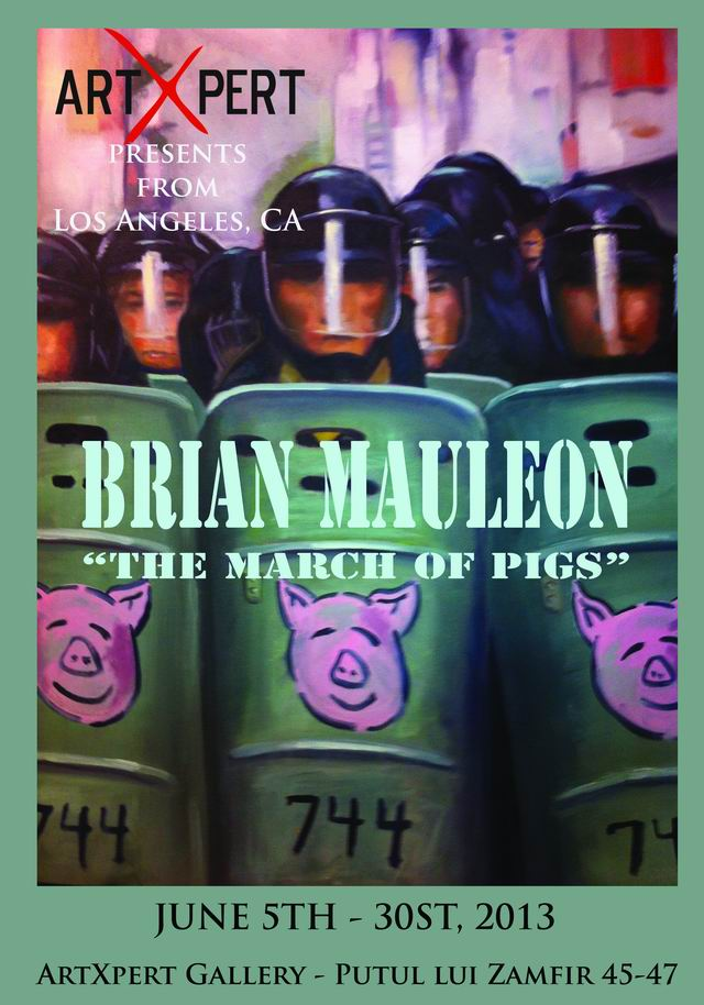 """The March of Pigs"" – Brian Mauleon @ Artxpert"
