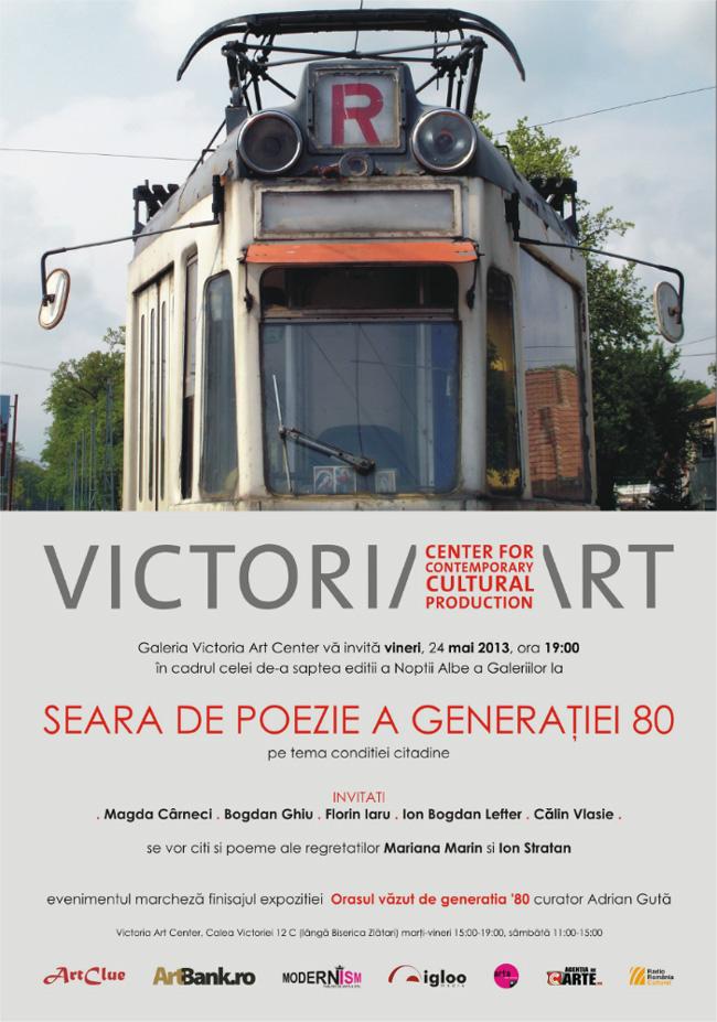 Seara de poezie a generaţiei '80 @ Victoria Art Center, București