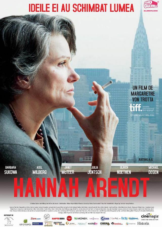 Hannah Arendt: o inimă caldă – un geniu glacial @ cinematografe din țară