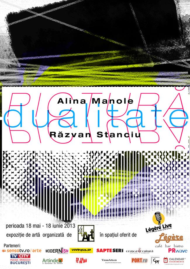 """Alina Manole și Răzvan Stanciu, """"Dualitate"""" @ Légère, București"""