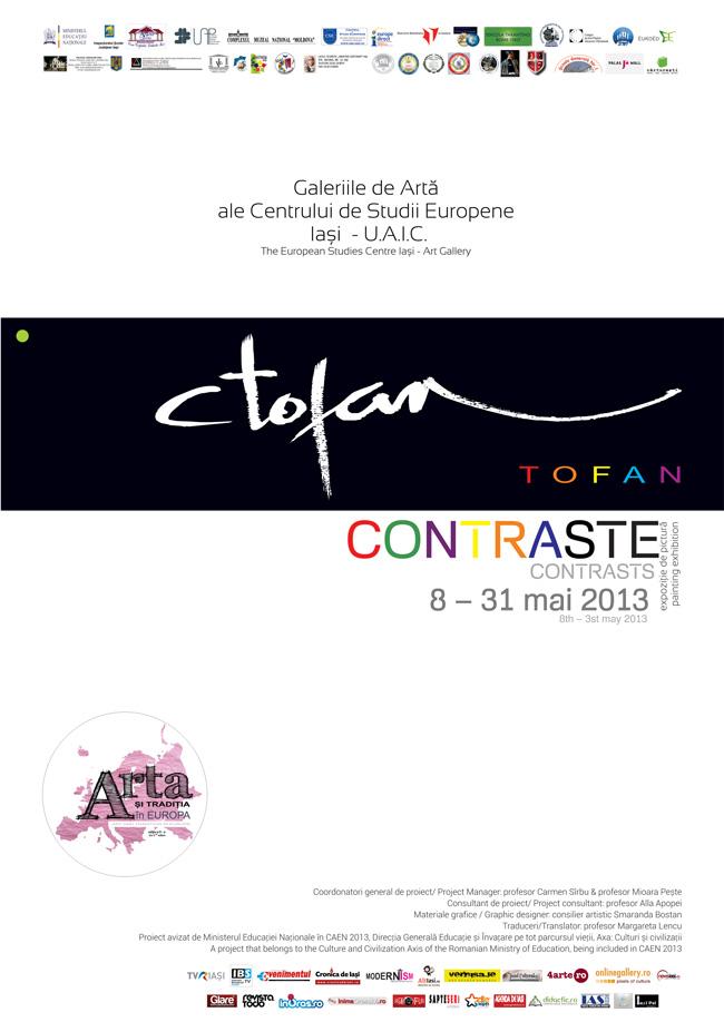 """Constantin Tofan """"Contraste"""" @ Galeriile de Artă ale Centrului de Studii Europene, Iași"""