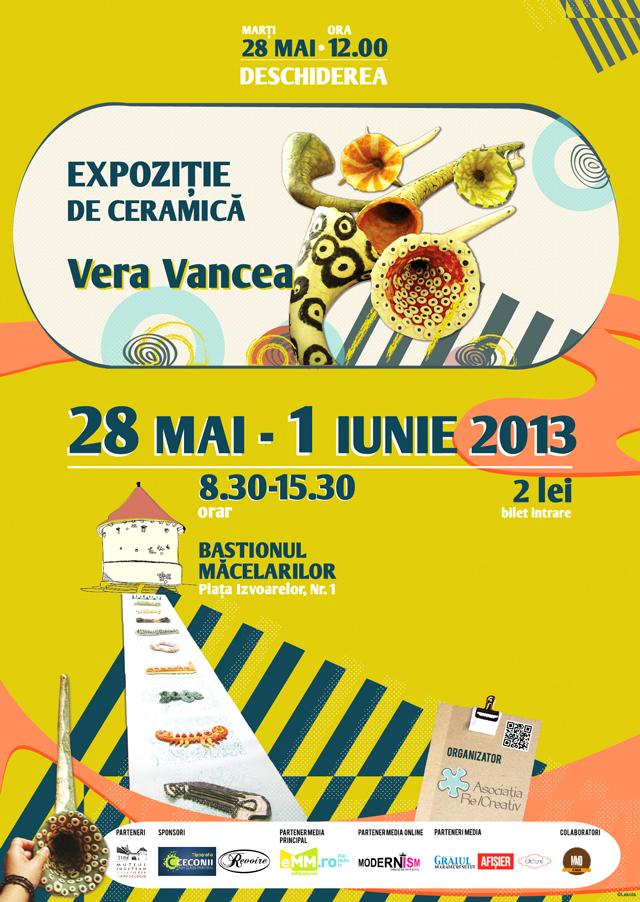 Expoziție Ceramică Vera Vancea @ Bastionul Măcelarilor Baia-Mare