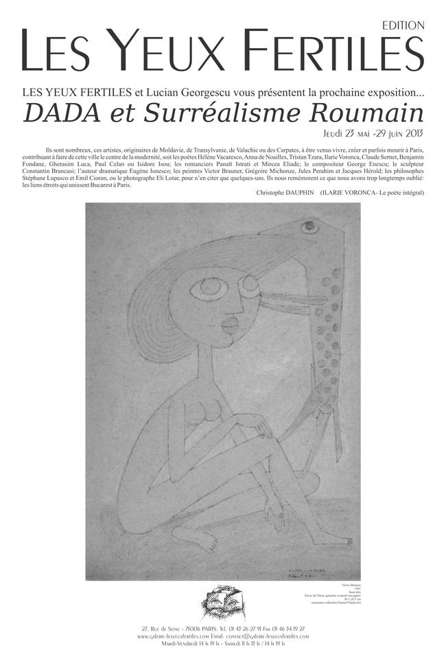 "Expoziție ""DADA et Surréalisme Roumain"", 23 Mai-29 Iunie, Paris"