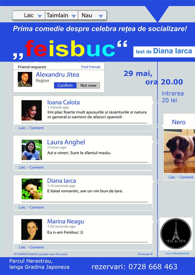 Feisbuc – o piesa de teatru despre facebook