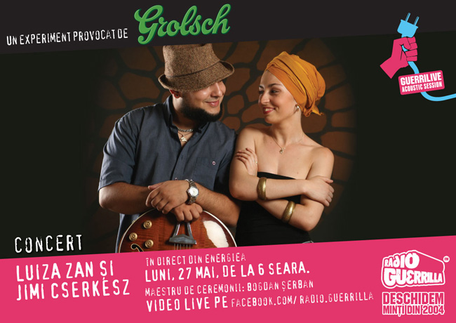 Vocea jazz-ului românesc Luiza Zan & Jimmy Cserkesz @ Guerrilive, luni, 27 mai