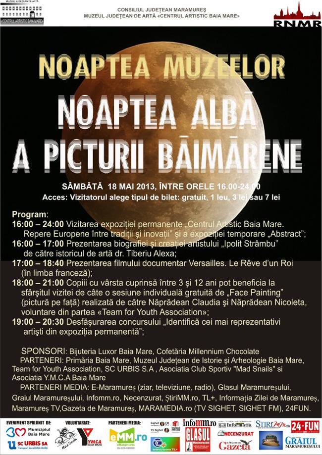 Noaptea albă a picturii băimărene @ Muzeul Judeţean de Artă «Centrul Artistic Baia Mare»