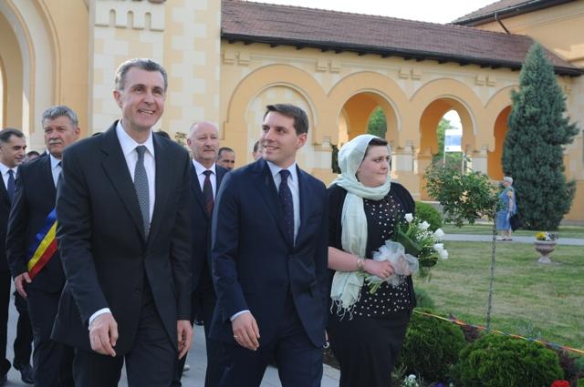 Principele Nicolae al României şi Principele Radu la Alba Iulia