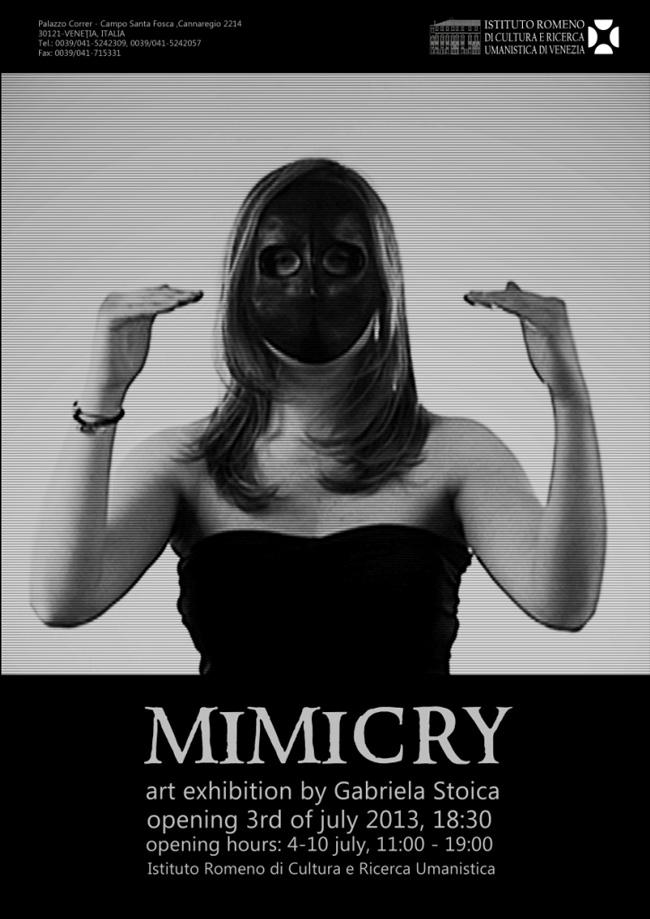 """Gabriela Stoica """"Mimicry"""" @ Mica Galerie a Institutului Român de la Veneţia"""