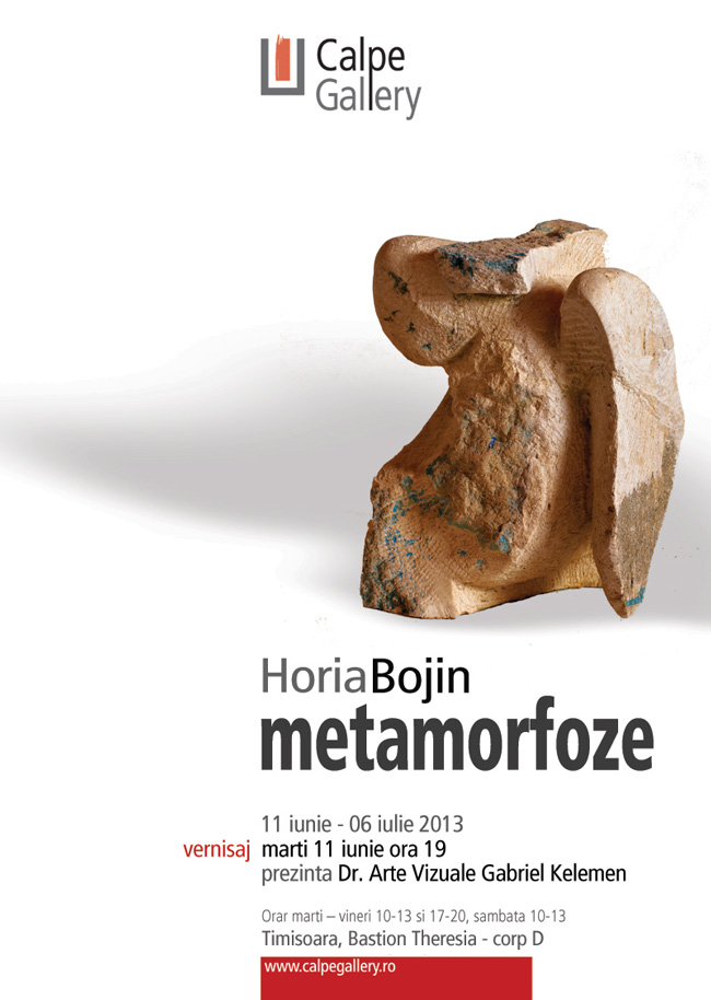 "Horia Bojin, ""Metamorfoze"" @ Calpe Gallery, Timișoara"