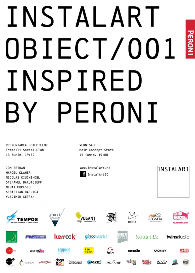 Instalart/ Obiect/ 001- Reveal by Peroni @ Fratelli Social Club, București